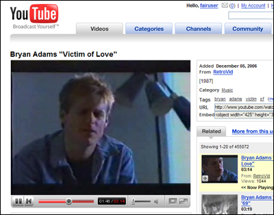 youtube bryan adams everything i do