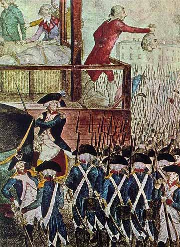 of King Louis XVI shows the head of the King of France to crowdReign Of Terror French Revolution